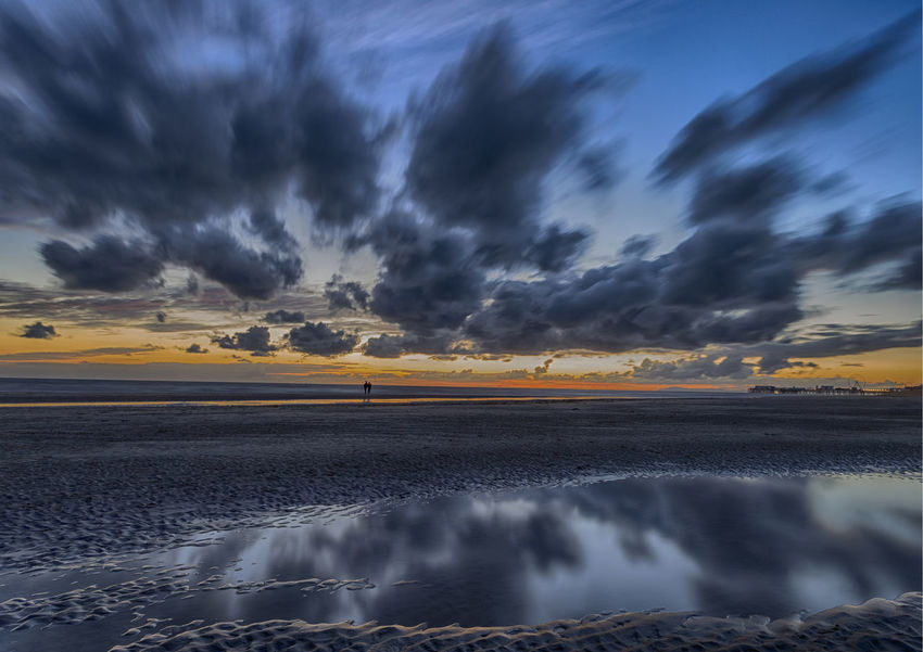 Blackpool Sunset Reflection Beauty In Nature Cloud - Sky Landscape Malephotographerofthemonth Nature Outdoors Reflection Reflections Scenics Seascape Seascape Photography Sky Sunset Tranquil Scene Tranquility