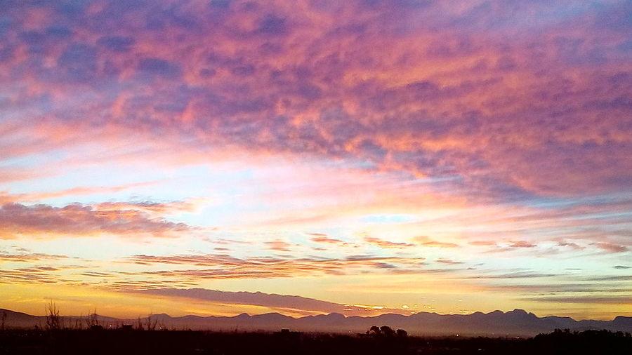Sunrise Multi Colored Beauty Horizon Silhouette Red Blue Sunlight Romantic Sky Atmospheric Mood Moody Sky