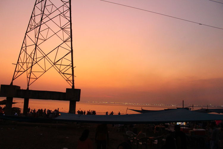 Beach View DumasBeachSurat Love is in the air Nature Photography Cool_capture_ Orenge Sky Sunset Tower