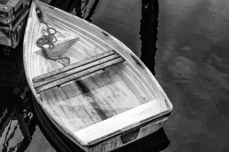 Close-up of boat on wood