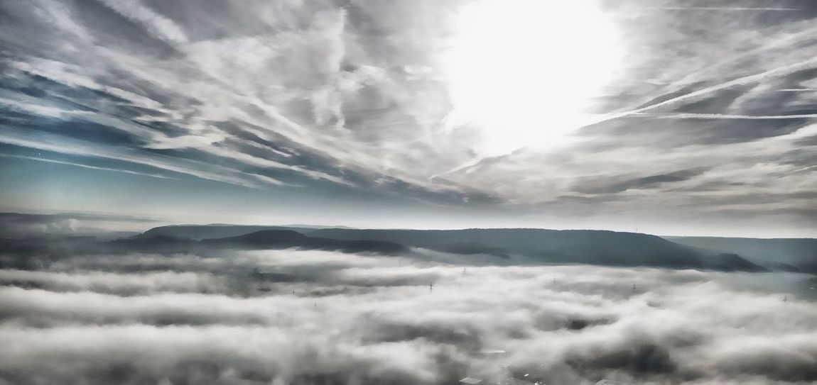 Nebelig Fog Nebel Nebelmeer Cloud - Sky Sky Beauty In Nature Tranquility Scenics - Nature Tranquil Scene Nature