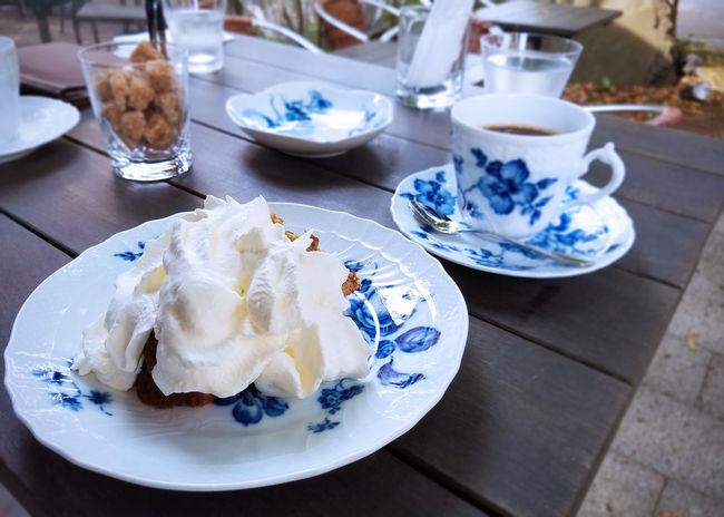 Cafe Cake Coffee Cream Food Japan Kanagawa Plate Table Tea Time Yuigahama ケーキ 松原庵カフェ 由比ヶ浜 鎌倉
