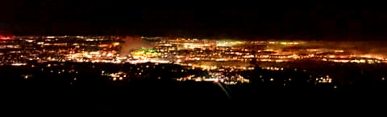 Colorado Springs, CO Overlooking the city lights