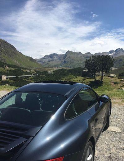 Porsche 911 Porsche Car Transportation Land Vehicle Mountain Day Road Mode Of Transport