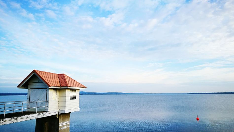 Water Sky Blue Cloud - Sky ArchitectureSummer Days Summer Holidays Summer Memories 🌄 Summer Views Summertime Summer Apstract Lifeporn Pier Idyllic Sea Built Structure Floating On Water Outdoors No People Beauty In Nature Nature Scenics Tranquility Day