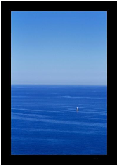 Arbatax - Sardinia Clear Sky Copy Space Sea Blue Flying Horizon Over Water Scenics Mid-air Beauty In Nature Tranquil Scene Nature Airplane No People Day Water Outdoors Sailing Ship Sky