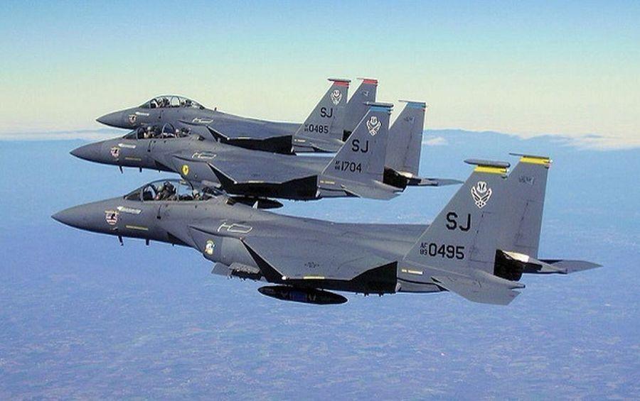USAF F-15 Eagles USA Us Military USAF F-15