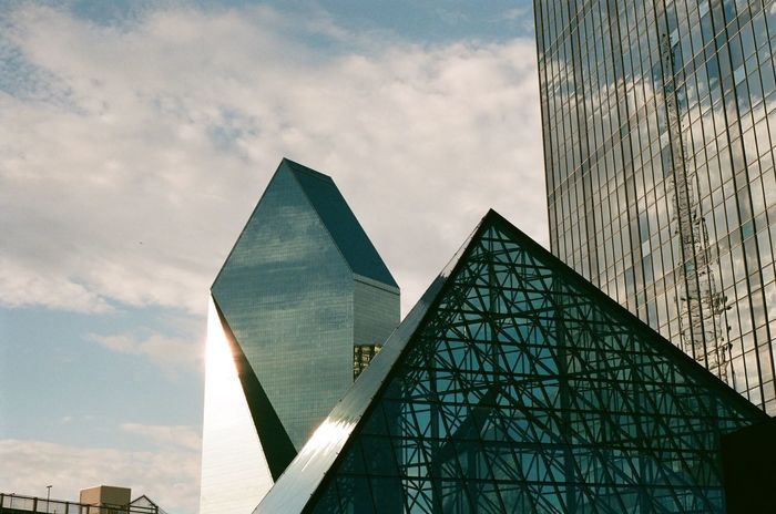 Architecture Built Structure Sky Building Exterior Triangle Shape Day Modern Cloud - Sky No People Pyramid Low Angle View Outdoors