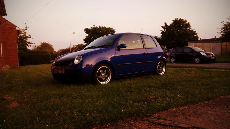 If one day speed kills me, do not cry because I was smiling - Paul Walker VW LUPO Sunset Cars Blue Crew Volkswagen