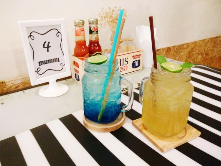 Blue Hawaii soda and lemon honey soda. Punch Glass Tones Black & White Happiness Blue Hawaii Soda Lemon Honey Table For Two ...
