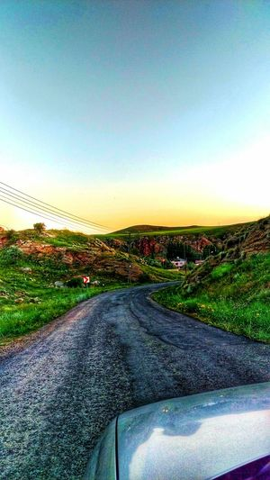 Sivas - Tödürge Sivas Türkiye Turkey Car Transportation The Way Forward Mode Of Transport Road Car Interior Windshield Beauty In Nature Outdoors Sky Landscape Sunset Car Point Of View Land Vehicle Day Travel Nature No People