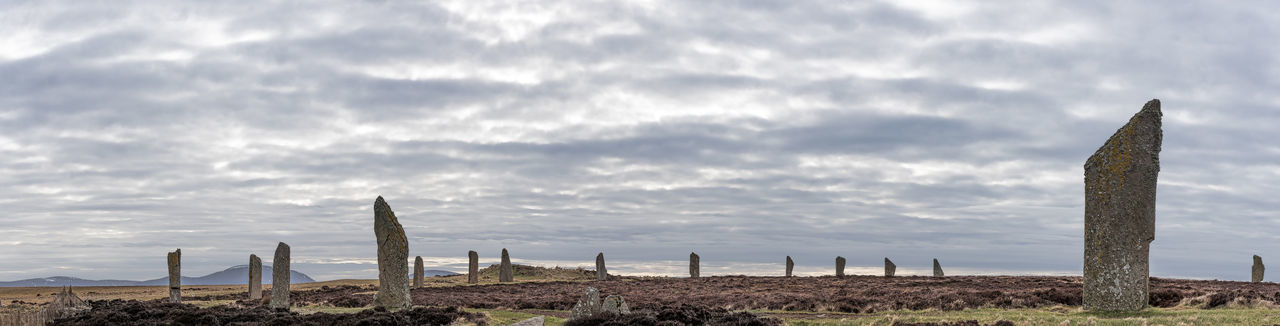Photo Merge Photography The Ring Of Brodgar Beauty In Nature Cloud - Sky Day Horizon Over Water Landscape Nature No People Outdoors Photo Merge Saguaro Cactus Scenics Sea Sky Standing Stones In Orkney Tranquil Scene Tranquility Wooden Post Idyllic Calm