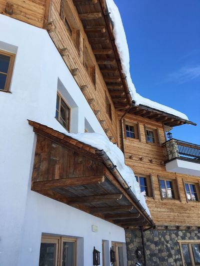 Architecture Built Structure Building Exterior Low Angle View Building Sky Day Snow Old Sunlight House Roof History