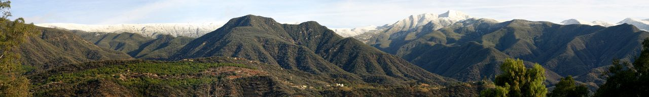 Ojai Valley With Snow Snow on the local Topa Topa Mountains near Ojai, California California Clouds Cold Forest Green Ice Landscape Mountain Mountains Nature Ojai Outdoor Outdoors Panorama Scenery Scenic Sky Snow Snowy Tourism Travel Valley Water Winter
