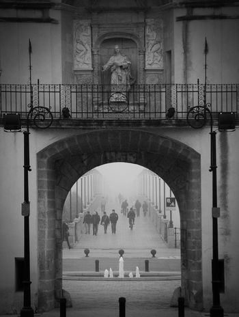 Arch History Architecture Built Structure Travel Destinations Large Group Of People City Badajoz, Spain Badajoz Black Blackandwhite Black & White Blackandwhite Photography Blackandwhitephotography Black&white Extremadura Extremadura Spain Extremadura, Spain Extremadurafotos