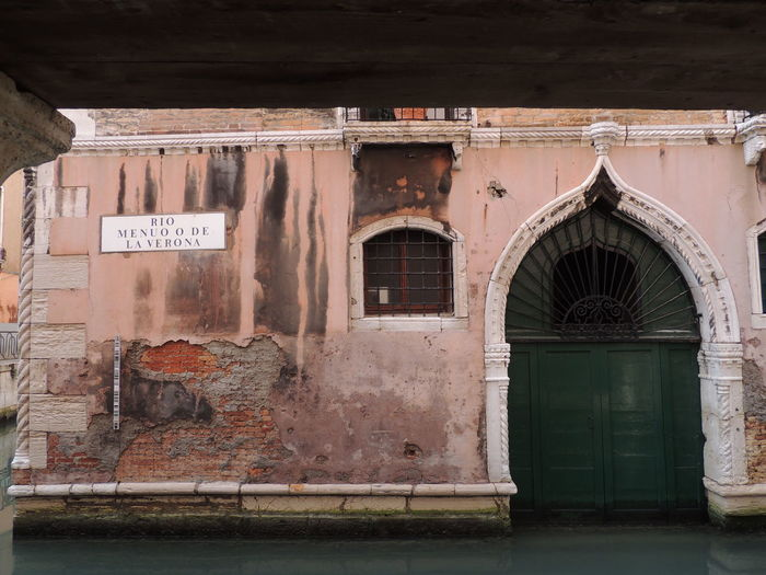 Architecture Building Exterior Canal Canal Entrance Decayed Beauty Door Venice Venice, Italy