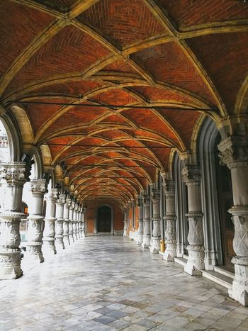 Architectural Column History Arch Corridor Ceiling Architecture Built Structure Colonnade Column Architecture And Art Palace Architectural Design Historic Arched Doges Palace Passage