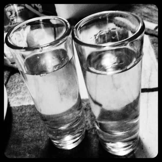Tequila Tequila Shots Caballitos Black & White