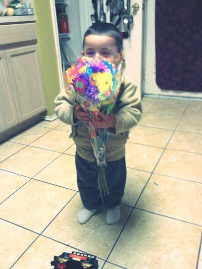 baby got me flowers :)