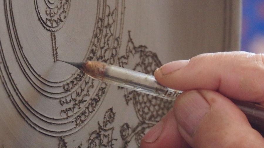 Bonis Ceramics Rhodes Greece Ceramics Factory Ceramic Art Craft Ceramic Plate Close-up Hand Made Design Human Hand One Person Indoors  Close-up