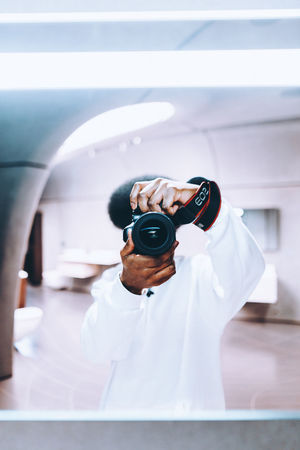 Architecture Camera Check This Out City City Life Colors Exploring EyeEm EyeEm Best Shots Light London Modern Camera - Photographic Equipment Canon Close-up Explore Human Hand Indoors  Leisure Activity One Person People Photographing Selfie Technology Zaha Hadid