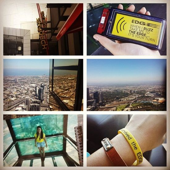 Day 5/ part II : Survived the 88 floors high skydeck. Its where you stand on a transperant platform where it elevates out of the building. Lifeexperience Eurekaskydeck Melbourne Cny2014