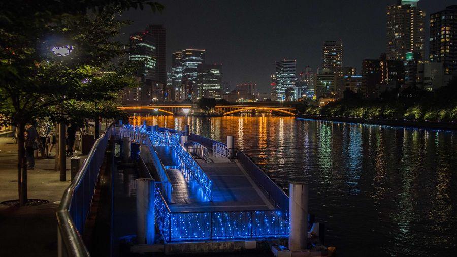 OSAKA Osaka,Japan Osaka At Night Water Water Reflections Illuminated No People Night Osaka City