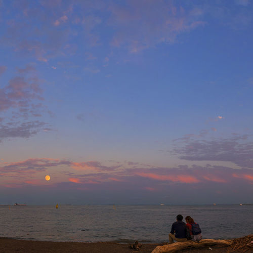 Beautiful Sky Cloud Cloudscape Couple Dramatic Sky Love Moody Sky Outdoors Sky Sunset Tokyo Bay