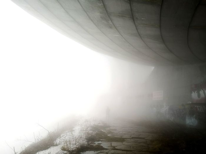 Do you know the place?!? Huaweiphotography Huwaeip20 Backgrounds EyeEm Selects Bulgaria Wide Angle Mobilephotography Mobile Photography Buzludzha Architecture Fog Architecture Sky Smog Atmospheric Mood Weather Snow Covered Foggy Snowfall Storm Cloud Overcast