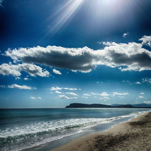 EyeEm Best Shots EyeEm Nature Lover EyeEm Selects EyeEm Gallery EyeEmBestPics EyeEm Best Edits EyeEm Gallery EyeEmBestPics Beach Beauty In Nature Horizon Over Water Poetto Poetto Beach Sardinia Sardinia's Beach Sardinia,italy Sea Sky Sunlight Seascape A New Beginning