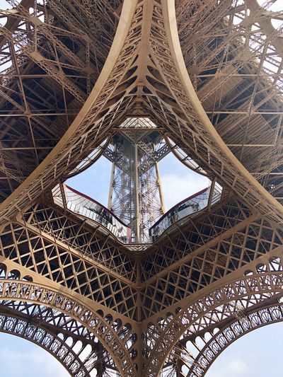 Architecture Built Structure Low Angle View Travel Destinations Architectural Feature Metal Tower No People Tourism Travel History Tall - High Monument Directly Below Pattern Modern Hospitality