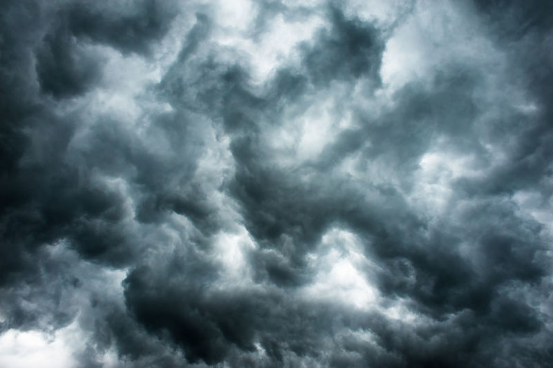 Full frame shot of storm clouds