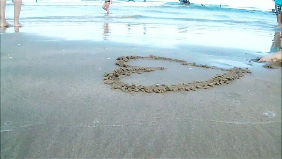 Heart Beira Mar Cute♡ Sun Beach Sand Sea Photo