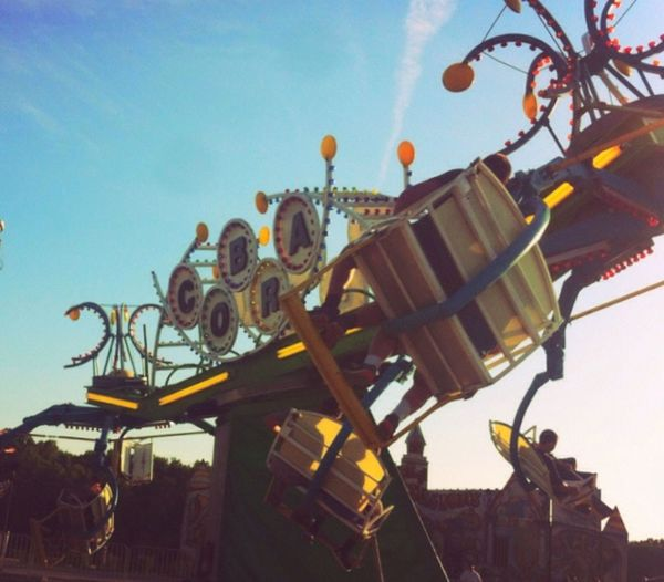 Small town carnival. Fun Lights Music Making Memories! :) Small Town People Big Lives Carnival Rides Cobra