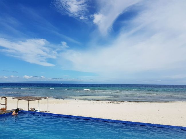 Blue Wave Resort Siquijor Island Philippines New Talent EyeEmNewHere First Eyeem Photo Eyeem Philippines Samsung Galaxy S7 Travel Travel Photography Vacations Sea Beach Blue Sky Water Horizon Over Water Outdoors Nature Beauty In Nature Scenics Cloud - Sky Sand Day Phoneography Tranquility Miles Away