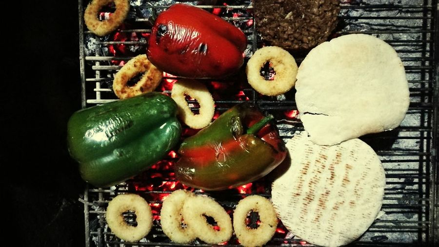 Close-up Group Of Objects Freshness Retail  Red Merchandise Green Color Vibrant Color Variety barbacue vegan Vegetarianfood Barbecue Grill Vegetable Barbacue Veganism vegan food Vegan Food Non-urban Scene Front View Outdoors Vacations Tourism Fire And Flames
