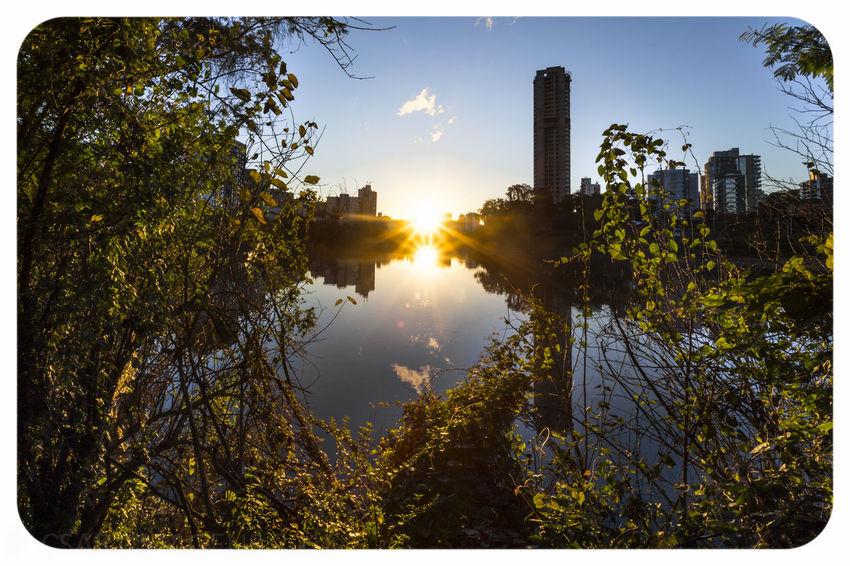 Lindo Fim de Tarde em Blumenau Carlito de Souza - CSARTIMAGENS Blumenau Curca Do Rio Estruturas Fim De Tarde Moldura Por Do Sol Prédio  Reflexões Sky Water Reflections árvores