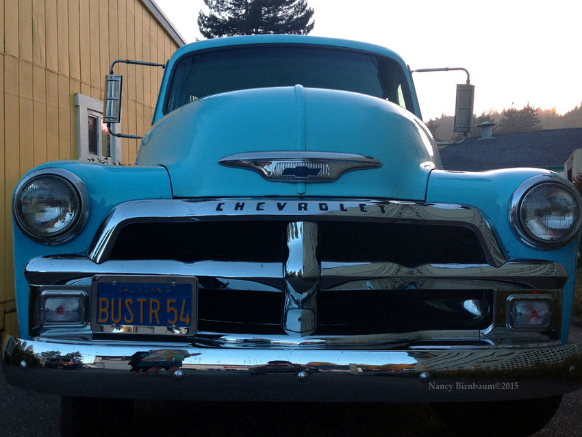 Old Blue Chevy Antique Truck Blackandwhite Blue Chevy Truck' Farm Lifestyle Land Vehicle Mode Of Transport No People Retro Styled Stationary Vintage Car Hidden Gems