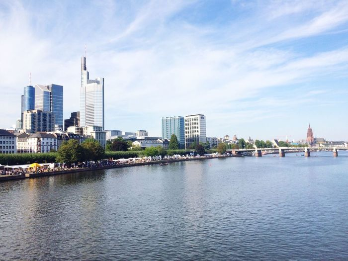 Frankfurt Am Main Skyline Mytown Summertime Muf Mainuferfest Iphone5s