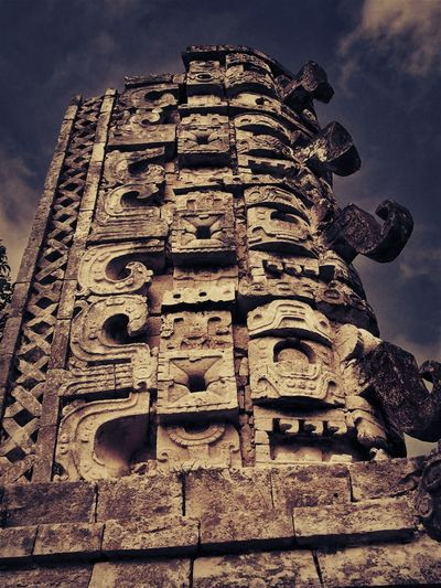 Chitza Nitza, Mexico Mayan Ruins Mexico Ancient Ancient Civilization Architecture Building Exterior Built Structure Cloud - Sky Day History Low Angle View Mayanculture No People Old Ruin Outdoors Place Of Worship Religion Sculpture Sky Spirituality Statue Temple Travel Travel Destinations