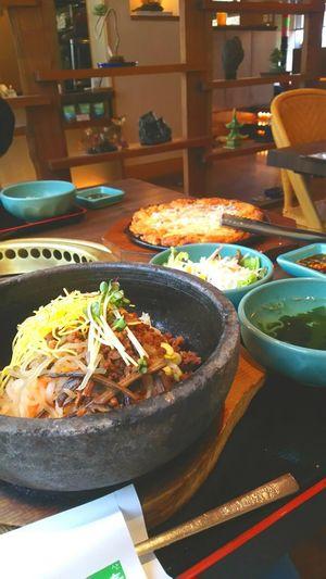 ビビンバ チヂミ 비빔밥 지짐이 韓国料理 한국요리 Lunchチーズチヂミめちゃ旨♡