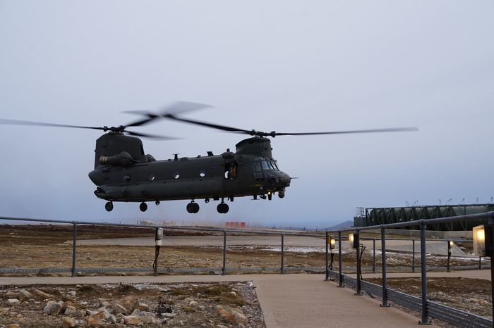 Chinook Helicopter Helipad Military Airforce Royal Air Force