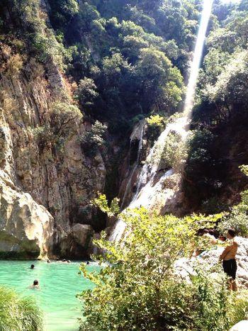 Polilimnio Waterfall Lakes And Mountains