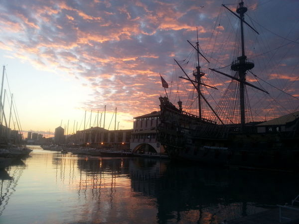 Lovely sunset Genova Nofilter Noedit Italy Italia IT Porto City Cityscape Urban Skyline Sunset Water Politics And Government Golf Club Nautical Vessel Reflection Business Finance And Industry Ferris Wheel Moody Sky Romantic Sky Atmospheric Mood Atmosphere Storm Cloud Dramatic Sky