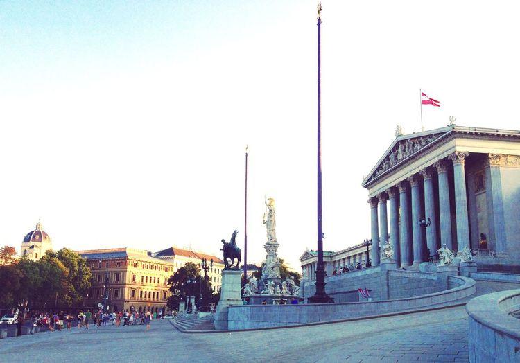 Wien Europe Europe Trip Interrail Sunset White Summer Architecture Spettacolo
