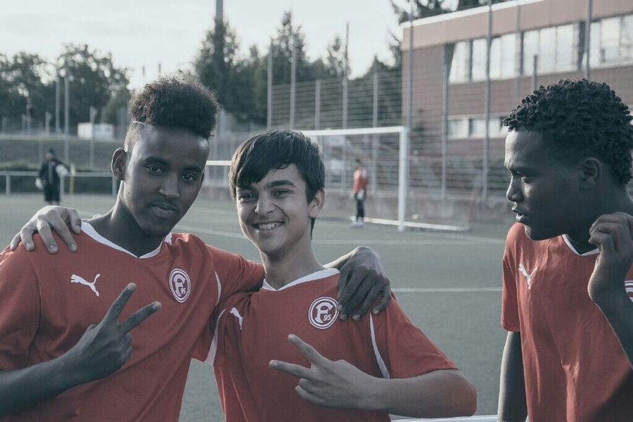 12 kids, 1 club, 1 day a week ... Football Club Fortuna Düsseldorf invites Refugee from war torn countries to training ... Welcome Refugees In Germany Refugees Welcome Helping Refugees Untold Stories Capture The Moment Sport In The City THESE Are My Friends
