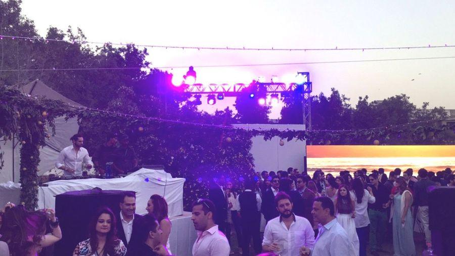 Brunch Around The World Daylight Faded Purple Light People Karachi