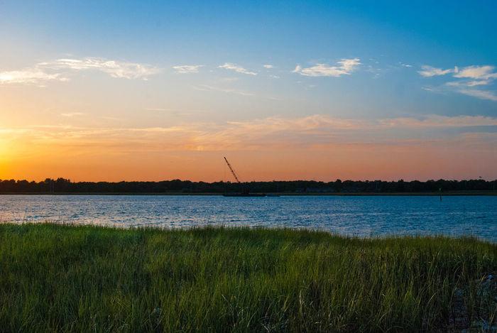 Gradient over texture. Sunset Silhouette EyeEm Charleston Nature