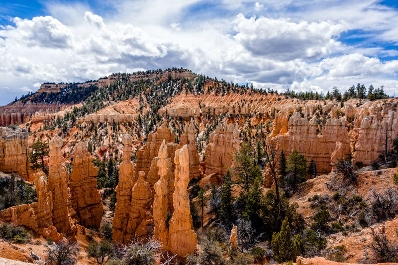 Beauty In Nature Bryce Canyon Cloud - Sky Day Geology Landscape Nature No People Outdoors Physical Geography Rock - Object Rock Hoodoo Scenics Sky Travel Destinations