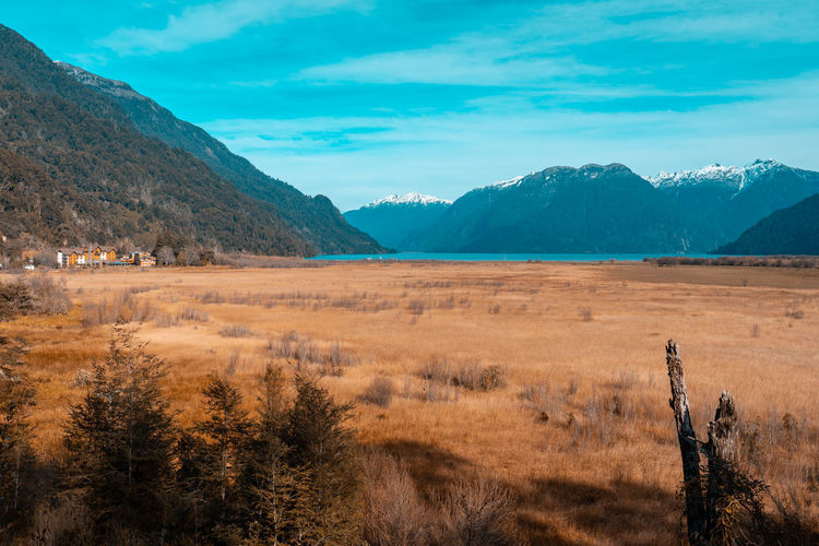 Patagonia... EyeEmNewHere The Great Outdoors - 2018 EyeEm Awards Arid Climate Beauty In Nature Cloud - Sky Day Environment Idyllic Land Landscape Mountain Mountain Range Nature No People Non-urban Scene Outdoors Plant Remote Scenics Scenics - Nature Sky Tranquil Scene Tranquility Travel Destinations Tree